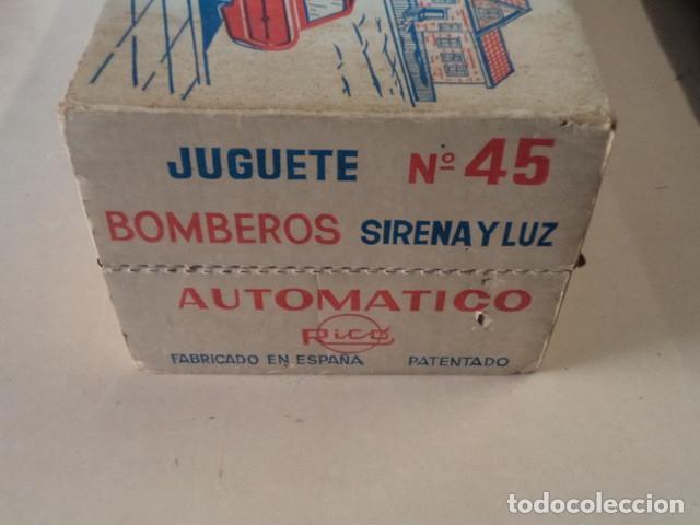 Juguetes antiguos Rico: COCHE JEFE DE BOMBEROS RICO CON SIRENA Y LUZ - EN MUY BUEN ESTADO Y FUNCIONANDO - CON CAJA - Foto 15 - 150797582