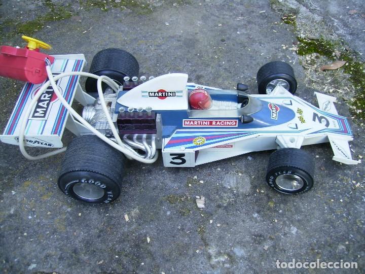 Juguetes antiguos Rico: coche de carreras de rico dirigido plastico años 70 mide unos 60cms no se si funciona - Foto 4 - 152437142