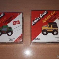 Juguetes antiguos Rico: LOTE CAJAS Y PIEZAS SPIDER CAR DE RICO. Lote 154943702