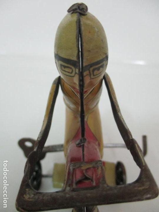 Juguetes antiguos Rico: Preciosa Moto Hojalata Litografiada - Marca Rico I -289 - a Cuerda, Funcionando - Años 30-40 - Foto 13 - 155617322