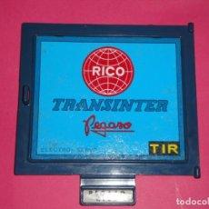 Juguetes antiguos Rico: TAPA REMOLQUE TRASERO CAMIÓN RICO. Lote 156559542