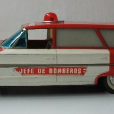 Juguetes antiguos Rico: COCHE FORD JEFE DE BOMBEROS MARCA RICO - FUNCIONA - VER DESCRIPCIÓN.. Lote 158557418