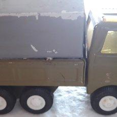 Brinquedos antigos Rico: RICO CAMION MINI SANSÓN HOJALATA PUERTA TRASERA ABATIBLE, TIPO MILITAR. Lote 160190706