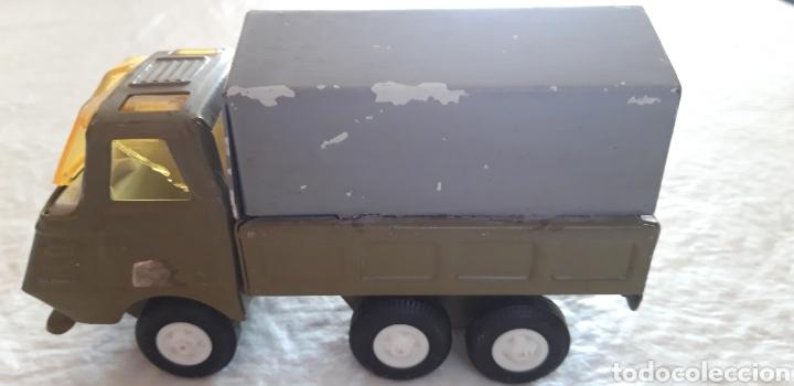 Juguetes antiguos Rico: Rico camion mini sansón hojalata puerta trasera abatible, tipo militar - Foto 5 - 160190706
