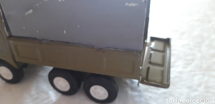 Juguetes antiguos Rico: Rico camion mini sansón hojalata puerta trasera abatible, tipo militar - Foto 6 - 160190706