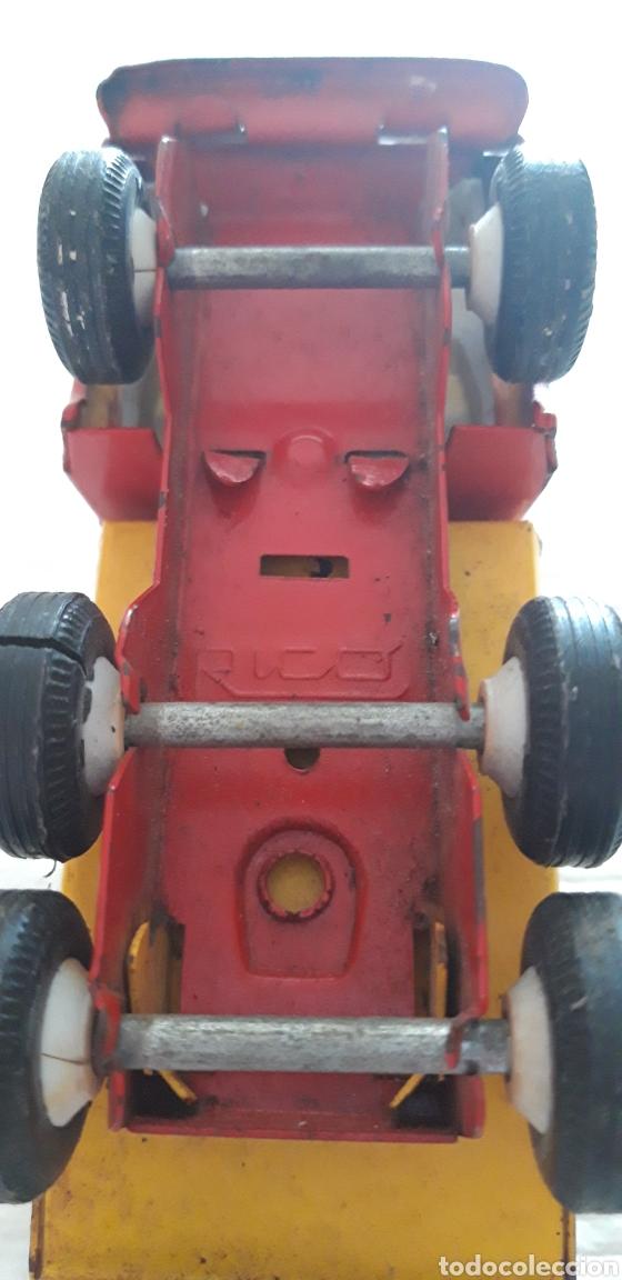 Juguetes antiguos Rico: Rico camión mini sansón metal volquete. - Foto 3 - 160191133