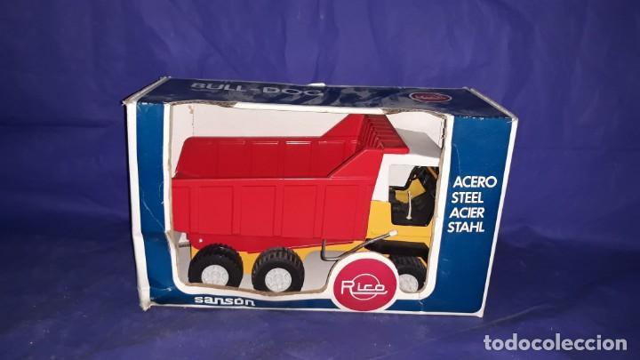 Juguetes antiguos Rico: Camión de obra-sanson junior de la casa rico made in spain años 70/80 - Foto 19 - 160316922