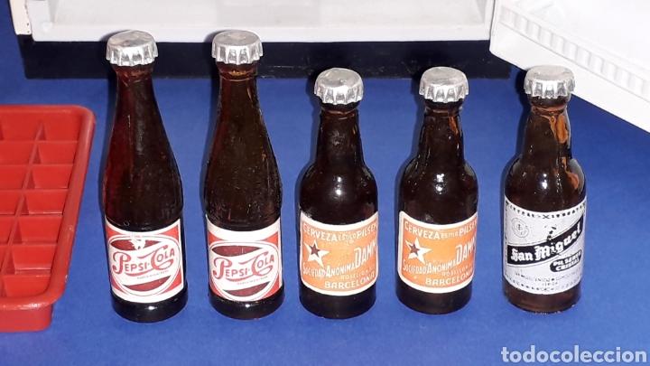 Juguetes antiguos Rico: Frigorífico Nevera Siemens, Pepsi-Cola, Cerveza Damm, San Miguel, Juguetes Rico IBI Spain, años 60. - Foto 2 - 161596866