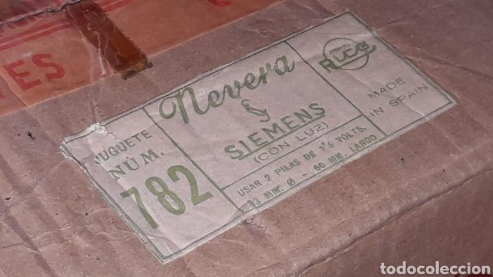 Juguetes antiguos Rico: Frigorífico Nevera Siemens, Pepsi-Cola, Cerveza Damm, San Miguel, Juguetes Rico IBI Spain, años 60. - Foto 3 - 161596866