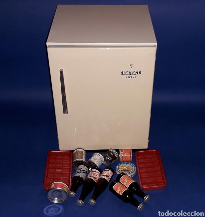 Juguetes antiguos Rico: Frigorífico Nevera Siemens, Pepsi-Cola, Cerveza Damm, San Miguel, Juguetes Rico IBI Spain, años 60. - Foto 7 - 161596866