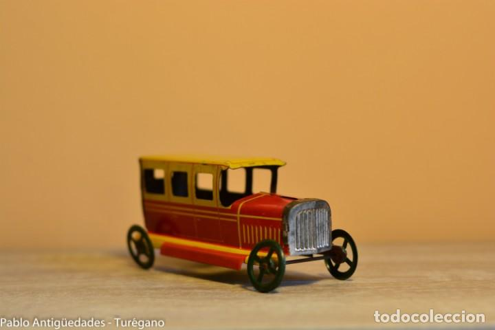 Juguetes antiguos Rico: Juguete antiguo Limusina de Rico - Hojalata litografiada, limousina, coche chapa original 1936 IBI - Foto 2 - 161625758