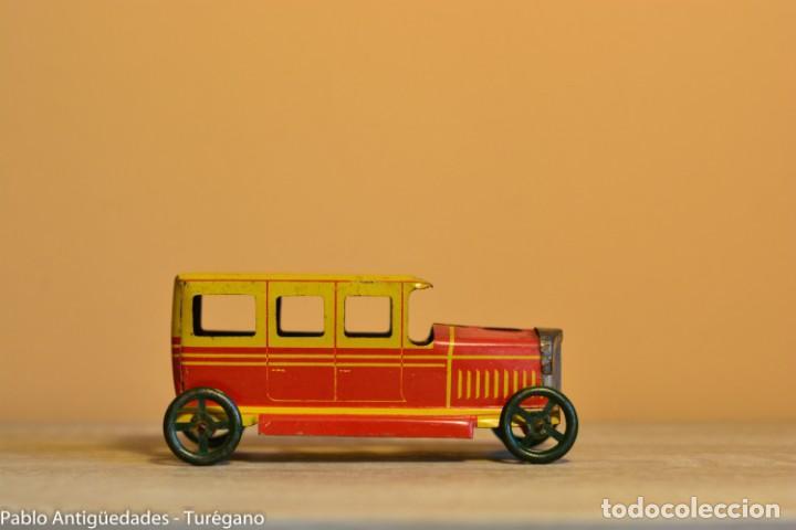Juguetes antiguos Rico: Juguete antiguo Limusina de Rico - Hojalata litografiada, limousina, coche chapa original 1936 IBI - Foto 3 - 161625758