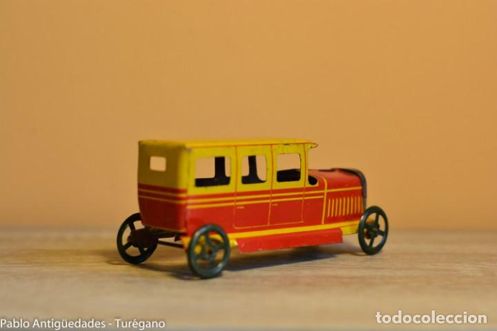 Juguetes antiguos Rico: Juguete antiguo Limusina de Rico - Hojalata litografiada, limousina, coche chapa original 1936 IBI - Foto 4 - 161625758