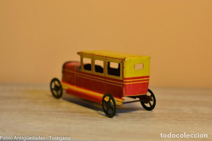 Juguetes antiguos Rico: Juguete antiguo Limusina de Rico - Hojalata litografiada, limousina, coche chapa original 1936 IBI - Foto 5 - 161625758