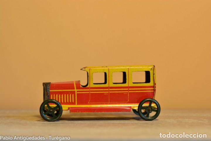 Juguetes antiguos Rico: Juguete antiguo Limusina de Rico - Hojalata litografiada, limousina, coche chapa original 1936 IBI - Foto 6 - 161625758