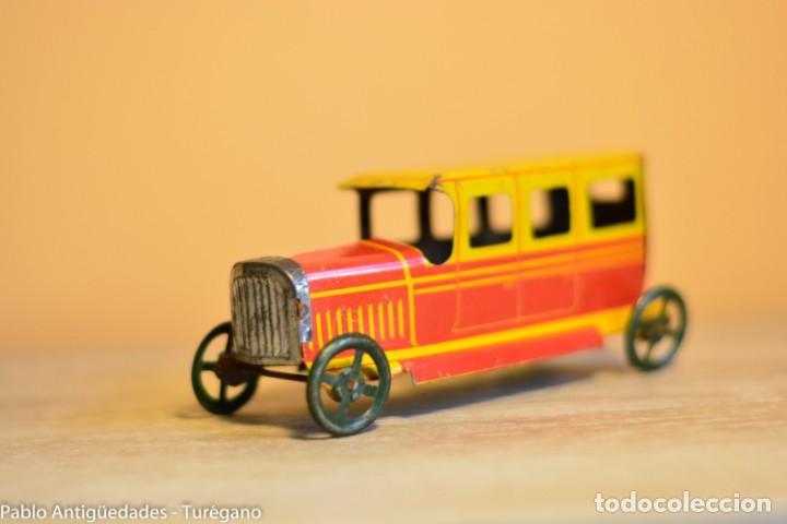 Juguetes antiguos Rico: Juguete antiguo Limusina de Rico - Hojalata litografiada, limousina, coche chapa original 1936 IBI - Foto 7 - 161625758