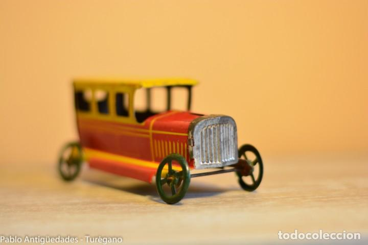Juguetes antiguos Rico: Juguete antiguo Limusina de Rico - Hojalata litografiada, limousina, coche chapa original 1936 IBI - Foto 8 - 161625758