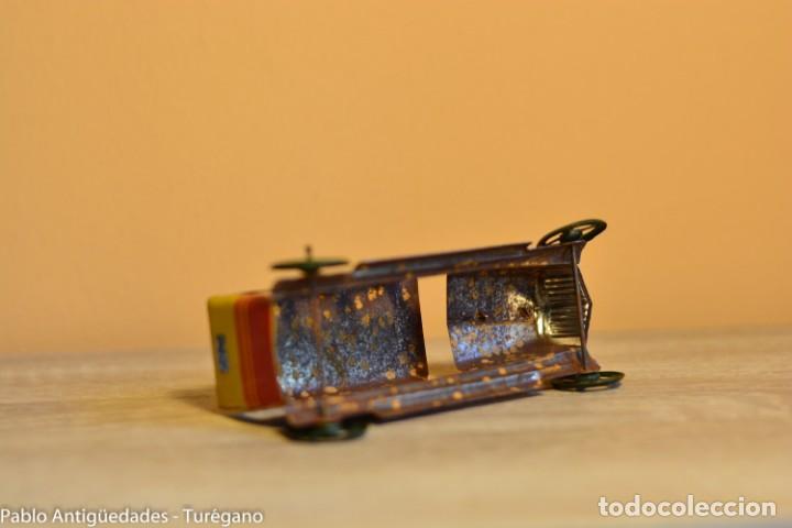 Juguetes antiguos Rico: Juguete antiguo Limusina de Rico - Hojalata litografiada, limousina, coche chapa original 1936 IBI - Foto 10 - 161625758