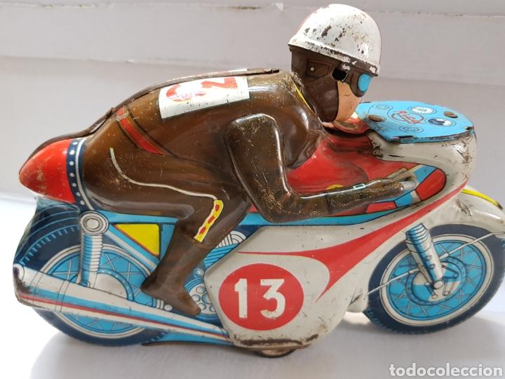 Juguetes antiguos Rico: Moto hojalata Bultaco Montesa de Rico escasa - Foto 3 - 163965664