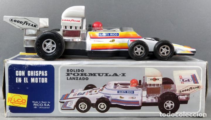 Juguetes antiguos Rico: Bólido Fórmula 1 Rico Lanzado a fricción años 80 Funciona - Foto 2 - 165355674