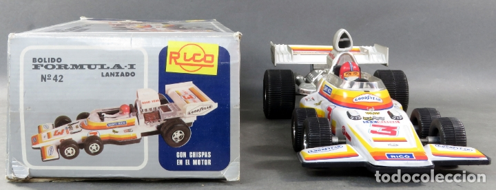 Juguetes antiguos Rico: Bólido Fórmula 1 Rico Lanzado a fricción años 80 Funciona - Foto 3 - 165355674