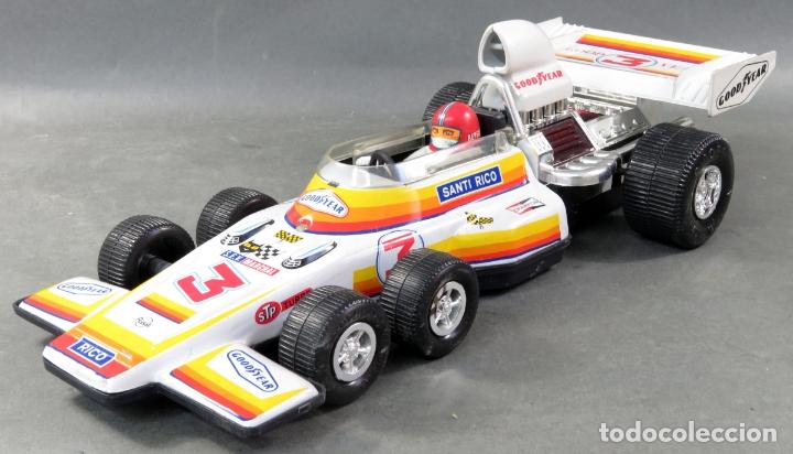 Juguetes antiguos Rico: Bólido Fórmula 1 Rico Lanzado a fricción años 80 Funciona - Foto 4 - 165355674