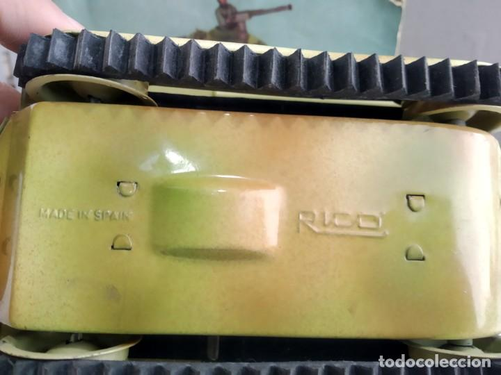 Juguetes antiguos Rico: ANTIGUO TANQUE DE RICO EN CAJA DE UNO DE JYESA - Foto 8 - 166113450