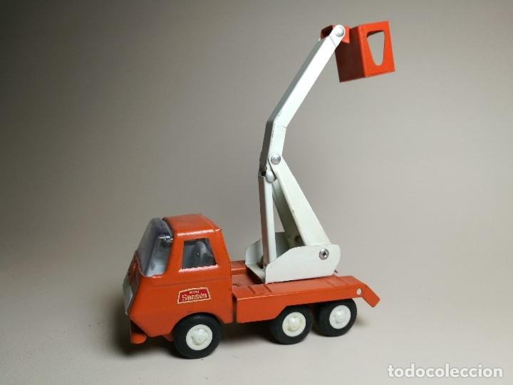 Juguetes antiguos Rico: camion grua cesta Mini Sanson de Rico - Foto 2 - 166946992