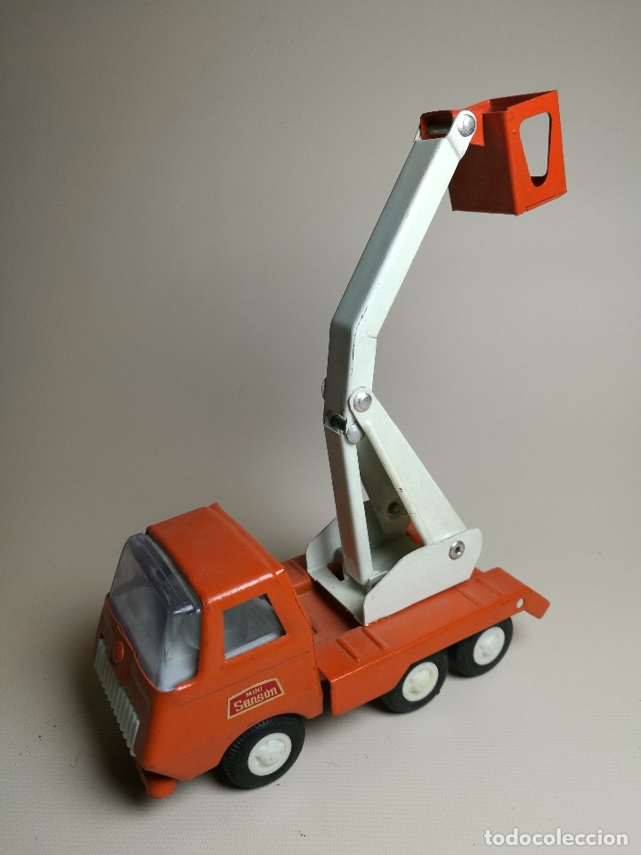 Juguetes antiguos Rico: camion grua cesta Mini Sanson de Rico - Foto 3 - 166946992