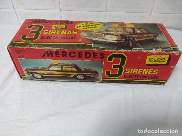Juguetes antiguos Rico: MERCEDES 450-POLICIA 3 SIRENAS DE RICO EN CAJA. - Foto 5 - 171171720