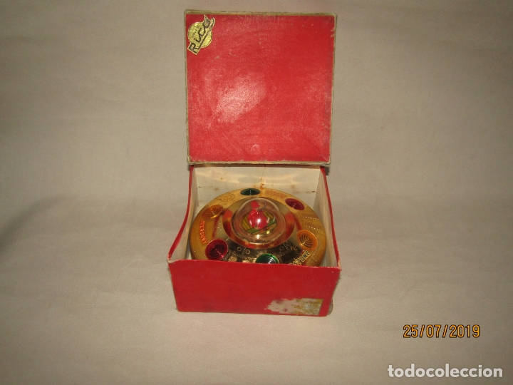 Juguetes antiguos Rico: Antiguo Platillo Volante Eléctrico de Juguetes RICO - en Caja Original - Foto 6 - 172631234