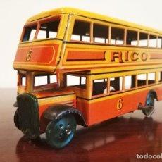 Juguetes antiguos Rico: ANTIGUO BUS DE 2 PISOS RICO REF. 119 DE HOJALATA LITOGRAFIADA AUTOBUS EN PERFECTO ESTADO. Lote 176040489