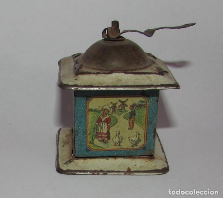 Juguetes antiguos Rico: MOLINILLO DE RICO - R.S.A. HOJALATA LITOGRAFIADA - AZUL - Foto 3 - 177504692