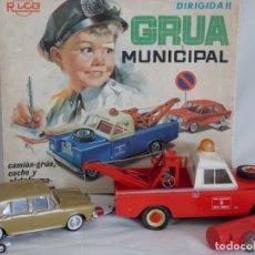 Juguetes antiguos Rico: ANTIGUA GRUA MUNICIPAL RICO. Lote 177631482