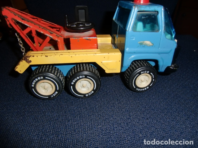 Juguetes antiguos Rico: camion grua de lata metalico - rico - mini sanson grua - Foto 5 - 179098480
