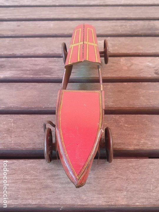 Juguetes antiguos Rico: ANTIGUO BOLIDO DE CARRERAS Nº 8 RICO DE HOJALATA (LATA) A CUERDA - Foto 3 - 179108911