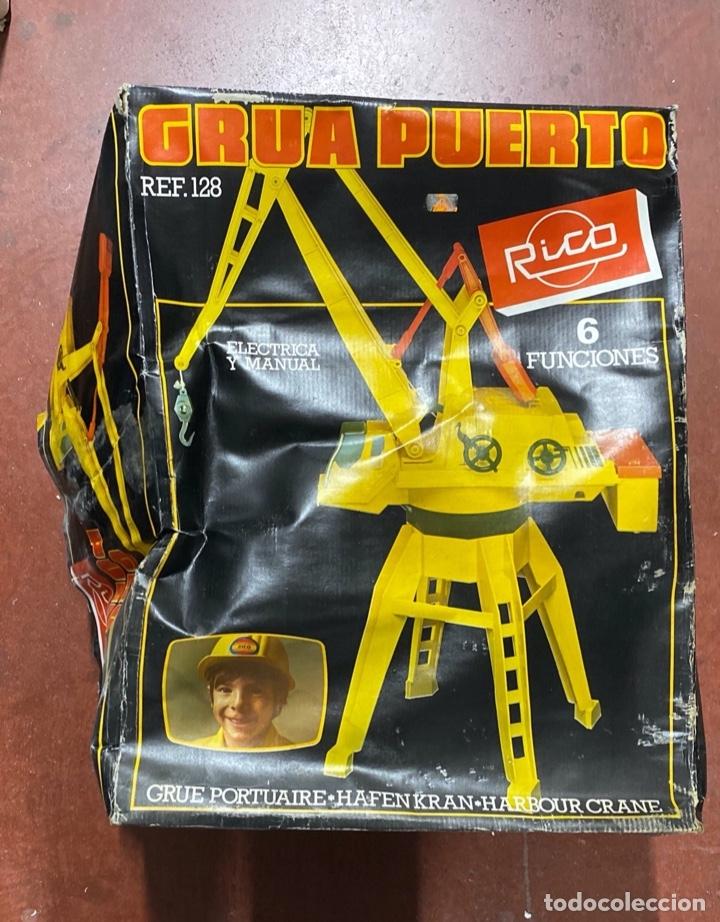 Juguetes antiguos Rico: GRUA PUERTO. MARCA RICO. REF. 128. CON CAJA ORIGINAL. FUNCIONA. MODO ELECTRICO Y MANUAL. - Foto 7 - 181567038