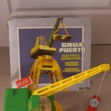 Juguetes antiguos Rico: GRUA PUERTO, DE RICO, FUNCIONANDO. CON CAJA ORIGINAL.. Lote 181788781