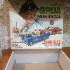 Juguetes antiguos Rico: CAJA VACIA DE GRUA MUNICIPAL SANTI-RICO. Lote 183284707