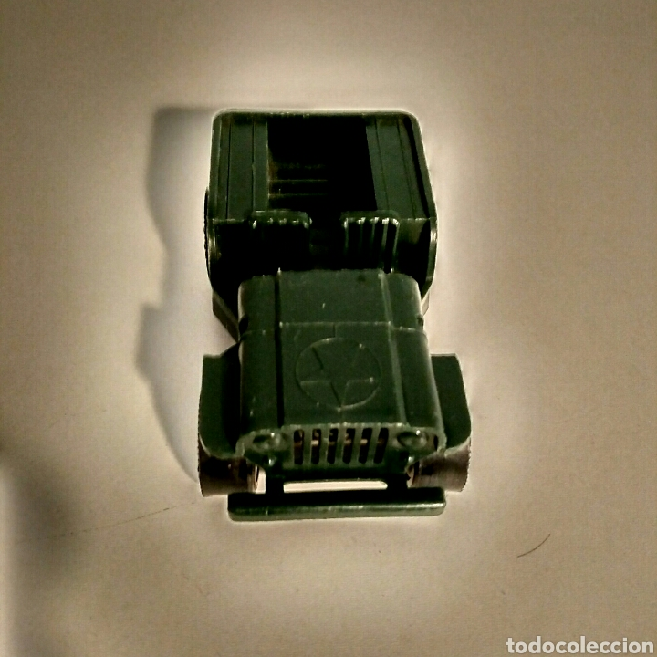 Juguetes antiguos Rico: Coche miniatura Jeep Willys Sanson Rico verde ejército militar USA - Foto 2 - 183464517