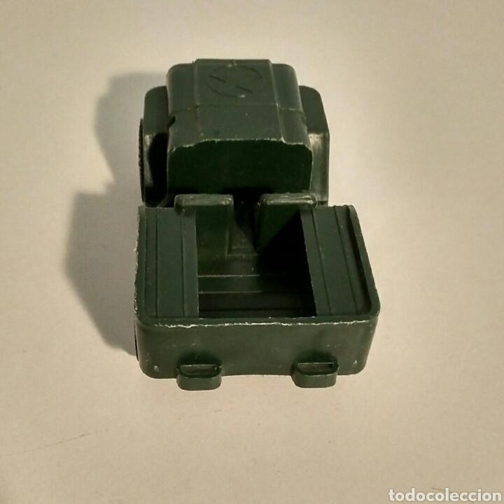 Juguetes antiguos Rico: Coche miniatura Jeep Willys Sanson Rico verde ejército militar USA - Foto 3 - 183464517