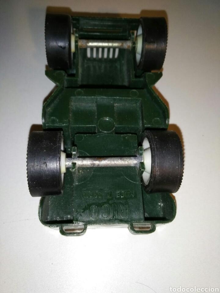 Juguetes antiguos Rico: Coche miniatura Jeep Willys Sanson Rico verde ejército militar USA - Foto 6 - 183464517