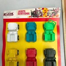 Juguetes antiguos Rico: ANTIGUO BLITERS JEEPS SURTIDOS RICO - JUGUETE AÑOS 70. Lote 185102343