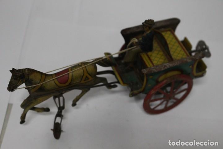 Juguetes antiguos Rico: Antigua carreta o tartana con ruedin de rico. buen estado. - Foto 3 - 189978382