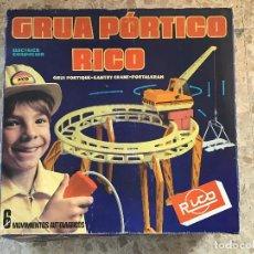 Juguetes antiguos Rico: GRUA PORTICO RICO. Lote 189984678