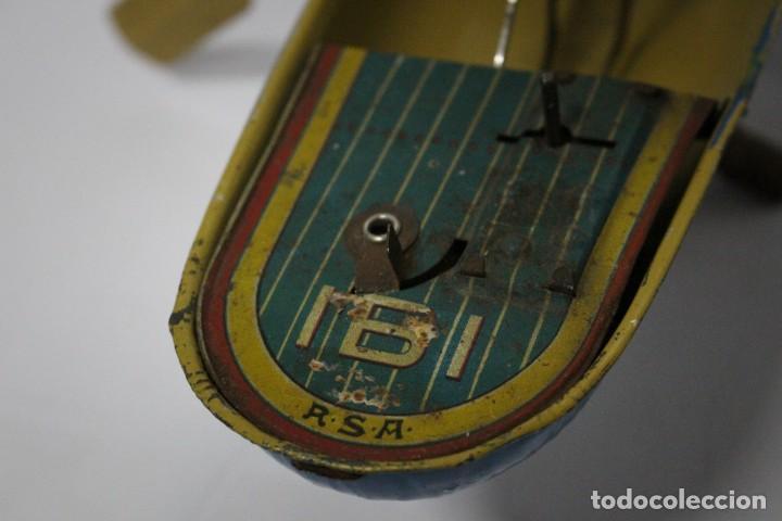 Juguetes antiguos Rico: Barca de remos nº 9 de R.S.A IBI. Rico, 36 cm. Original imposible de conseguir. Buen estado - Foto 8 - 190783963