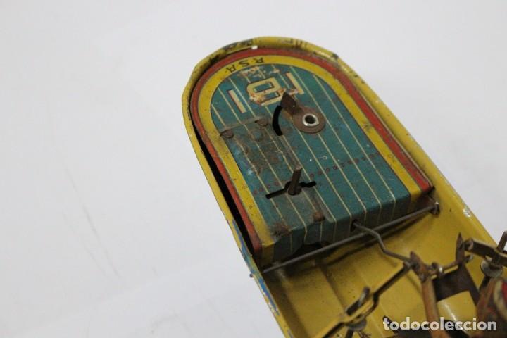 Juguetes antiguos Rico: Barca de remos nº 9 de R.S.A IBI. Rico, 36 cm. Original imposible de conseguir. Buen estado - Foto 11 - 190783963