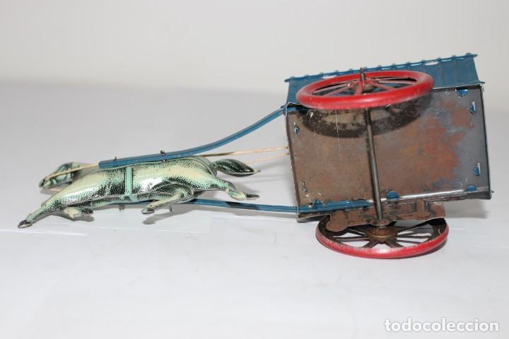Juguetes antiguos Rico: tartana azul de rico años 40. Como nueva - Foto 5 - 190822858