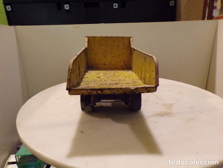 Juguetes antiguos Rico: camion antiguo de chapa con remolque marca rico 51 cm de largo - Foto 2 - 193565430