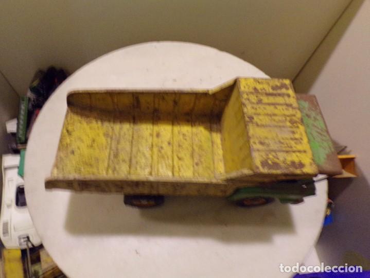 Juguetes antiguos Rico: camion antiguo de chapa con remolque marca rico 51 cm de largo - Foto 4 - 193565430
